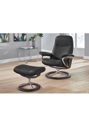 Stressless® Relaxsessel »Garda«, mit Hocker, mit Signature Base, Größe M, Gestell Wenge kaufen