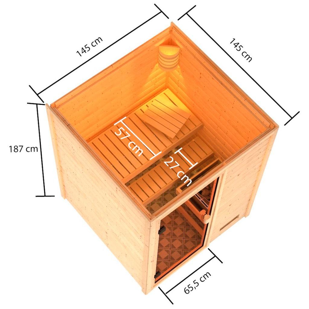 Karibu Sauna »Sandy«, 4,5-kW-Ofen mit int. Steuerung