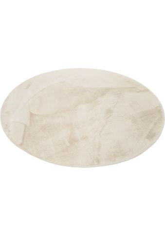 Esprit Hochflor-Teppich »Alice«, rund, 25 mm Höhe, Kunstfell, Kaninchenfell-Haptik, Wohnzimmer kaufen