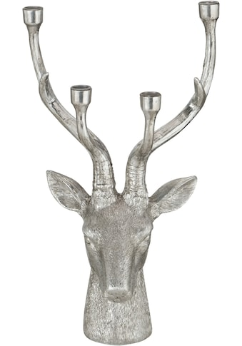BOLTZE Kerzenhalter »Lobo«, in Hirschform, Höhe ca. 49 cm kaufen