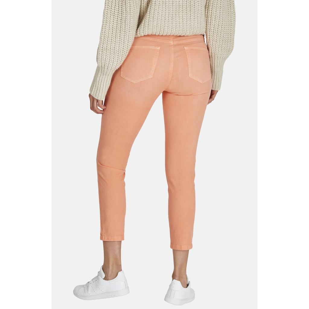 ANGELS 7/8-Jeans, 'Ornella Button' mit unifarbenem Stoff