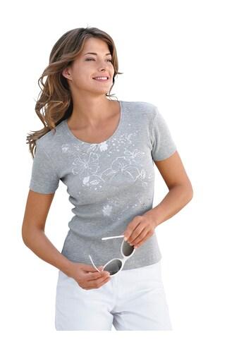 Ambria Shirt mit silberfarbenem Druck vorne kaufen