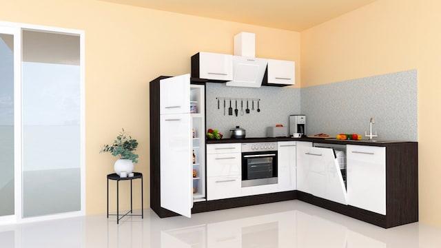 Eckküche in Weiß