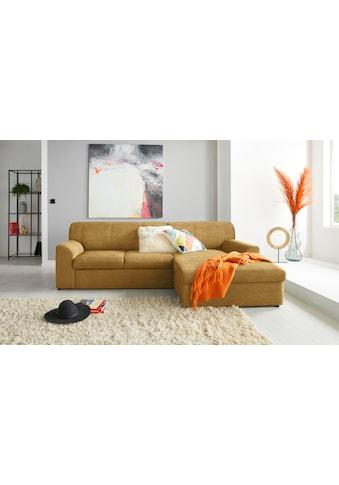 DOMO collection Ecksofa »Topper«, mit Recamiere, wahlweise mit Schlaffunktion kaufen