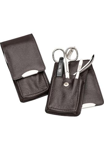 ERBE Maniküre-Etui »Stecketui mit Druckknopfverschluss aus echtem Leder«, bestückt mit... kaufen