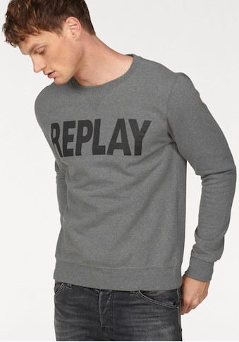 Replay Sweatshirt, Markenprint kaufen
