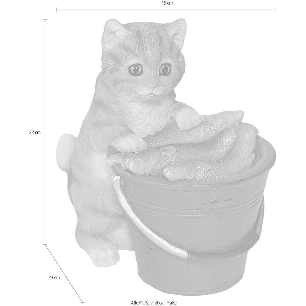 Casa Collection by Jänig Dekofigur »Katze am Eimer voller Fische«, stehend
