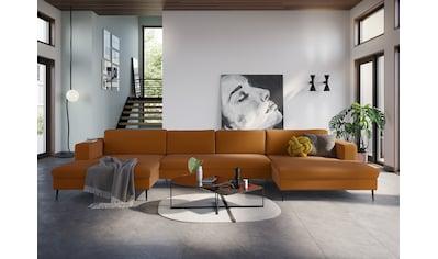 DOMO collection Wohnlandschaft, XXL, in moderner Optik mit, 2 großzügigen Recamieren, frei im Raum stellbar kaufen