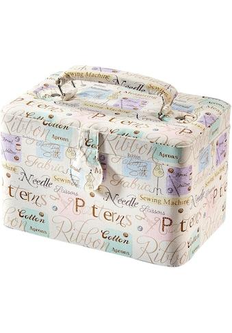 Home affaire Nähkästchen, rechteckig, Textil WORDS mit Griff aus Stoff kaufen