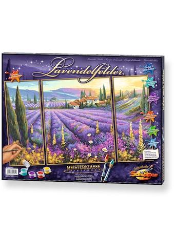 Schipper Malen nach Zahlen »Meisterklasse Triptychon Lavendelfelder«, Made in Germany kaufen