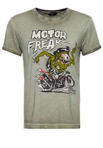 KingKerosin Print-Shirt »Motor Freak«, mit Oilwash-Effekt in Vintage Optik kaufen