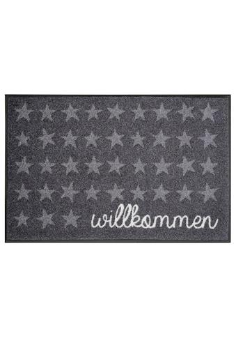 wash+dry by Kleen-Tex Fußmatte »Willkommen Sterne«, rechteckig, 7 mm Höhe,... kaufen