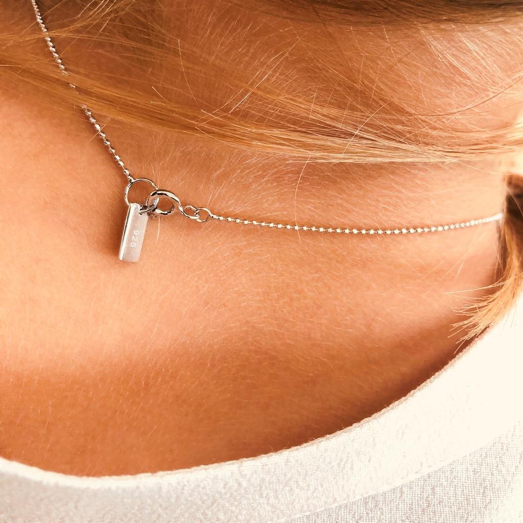 AILORIA Kette mit Anhänger »LISON II Halskette Silber«, mit Circle-Charm mit Zirkonia-Steinen