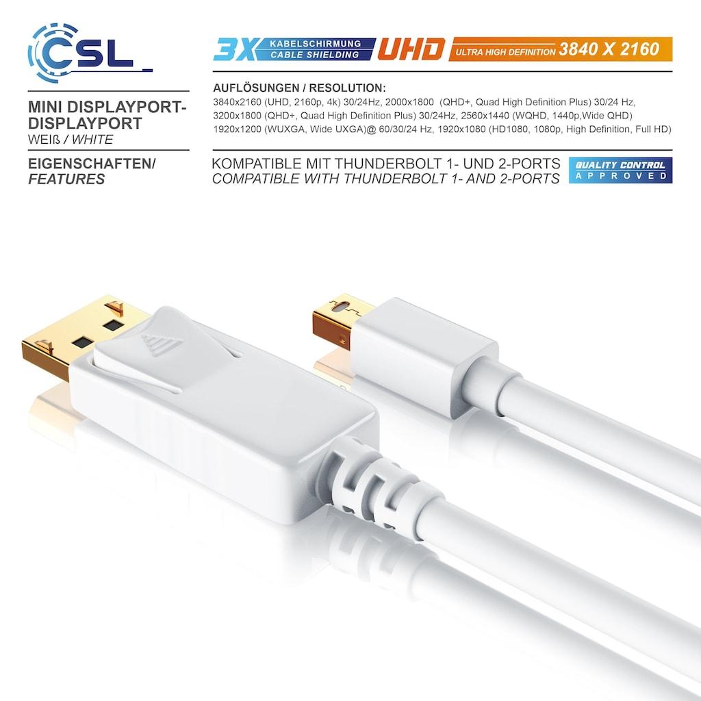 CSL Mini DisplayPort (miniDP) auf DisplayPort (DP) Monitor Kabel