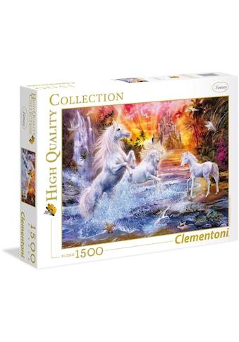 Clementoni® Puzzle »High Quality Collection - Wilde Einhörner«, Made in Europe kaufen