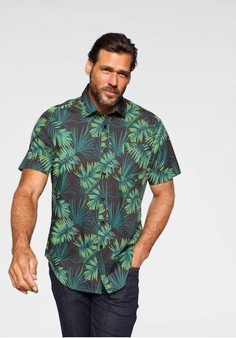 Man's World Kurzarmhemd, mit floralem Druck kaufen