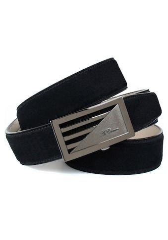 Anthoni Crown Ledergürtel, mit glänzender Schließe, Wildleder-Optik kaufen