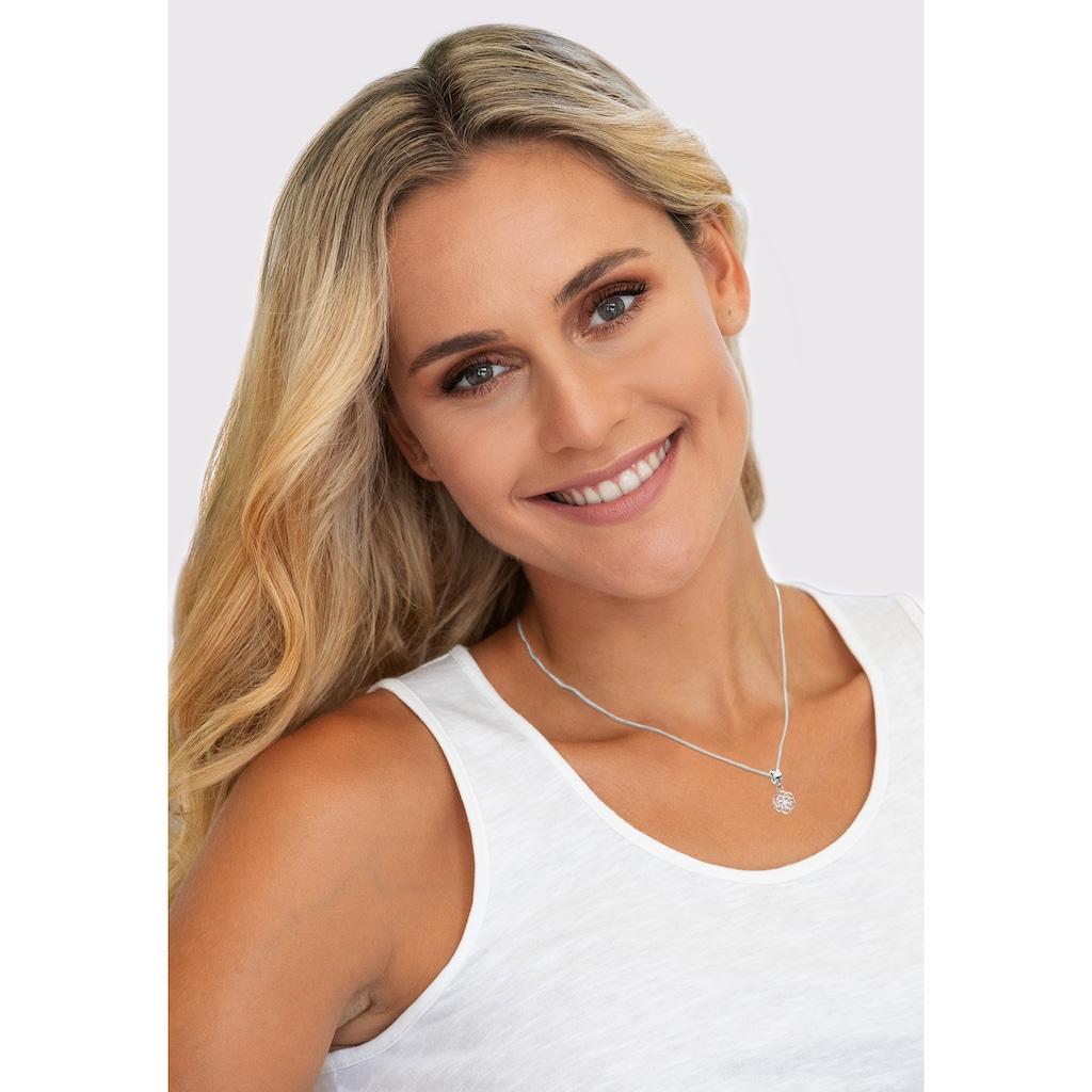 Nenalina Charm-Einhänger »Anhänger Bead Blume des Lebens Ornament 925 Silber«