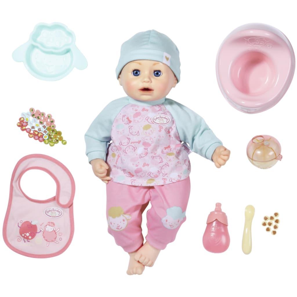 Baby Annabell Babypuppe »Annabell Fütterspaß, 43 cm«, mit Schlafaugen und Sound
