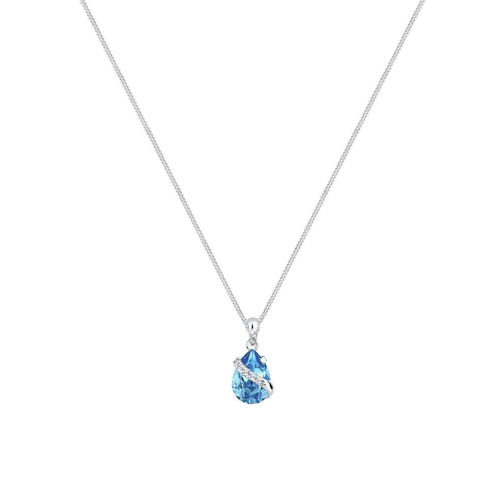 Elli Collierkettchen »Tropen Kristalle 925 Sterling Silber«