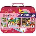 """Schmidt Spiele Puzzle """"Puzzlebox im Metallkoffer, Bibi + Tina"""""""