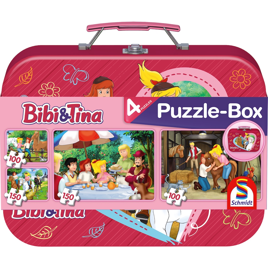 Schmidt Spiele Puzzle »Puzzlebox im Metallkoffer, Bibi + Tina«