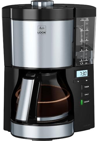 Melitta Filterkaffeemaschine Look V Timer 1025 - 08 schwarz, Papierfilter 1x4 kaufen