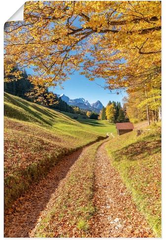 Artland Wandbild »Herbst in Bayern«, Berge & Alpenbilder, (1 St.), in vielen Größen &... kaufen
