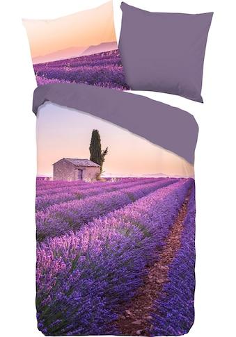 PURE luxury collection Wendebettwäsche »Lavender«, mit Lavendelfeld kaufen