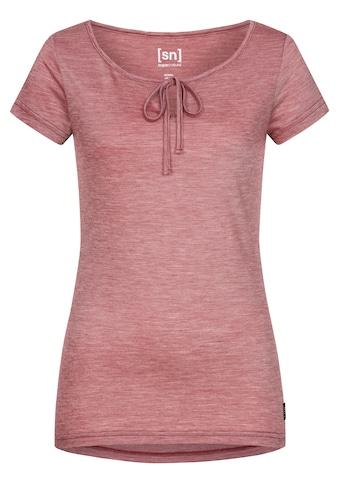 SUPER.NATURAL T-Shirt »W RELAX TEE«, mit Band am Ausschnitt zum Binden, bequemer Merino-Materialmix kaufen