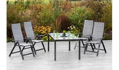 MERXX Gartenmöbelset »Florenz«, (5 tlg.), 4 Klappsessel mit Gartentisch kaufen