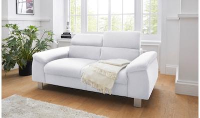 COTTA 2-Sitzer »Komaris«, inklusive Kopfteilverstellung, moderner chromfarbener Fuß kaufen