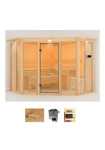 Karibu Sauna »Astrid 2«, 9-kW-Ofen mit externer Steuerung kaufen