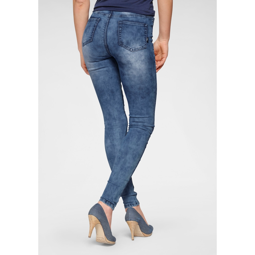 Arizona Skinny-fit-Jeans »Ultra Stretch moon washed«, Moonwashed Jeans