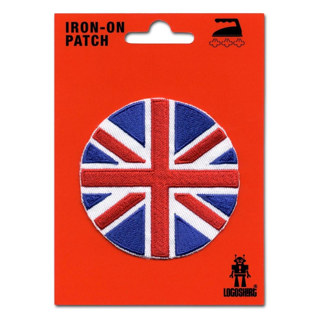 LOGOSHIRT Aufnäher mit Union Jack-Motiv