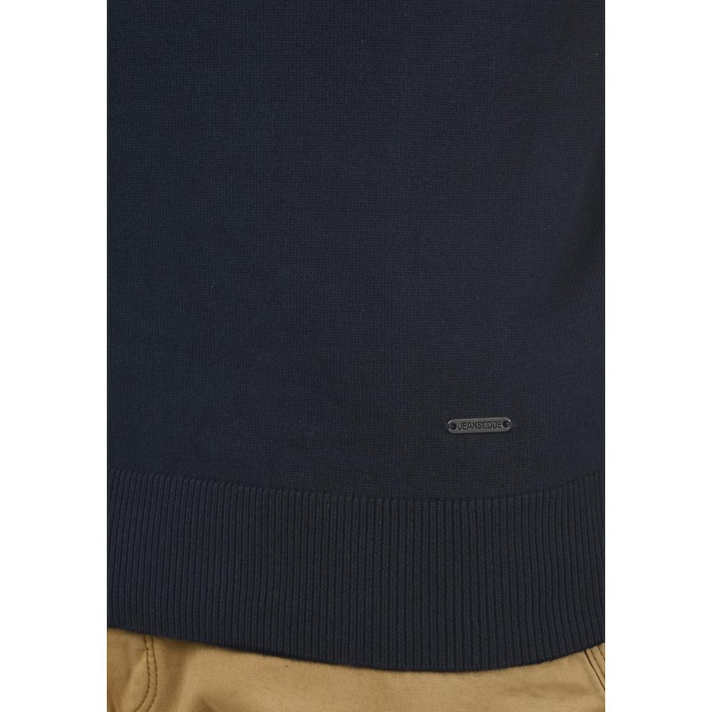 Indicode Rollkragenpullover »Ernetto«, Rollkragenpulli mit abgesetztem Strickmuster