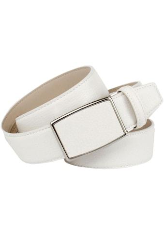 Anthoni Crown Ledergürtel, in weiß für Jeans kaufen