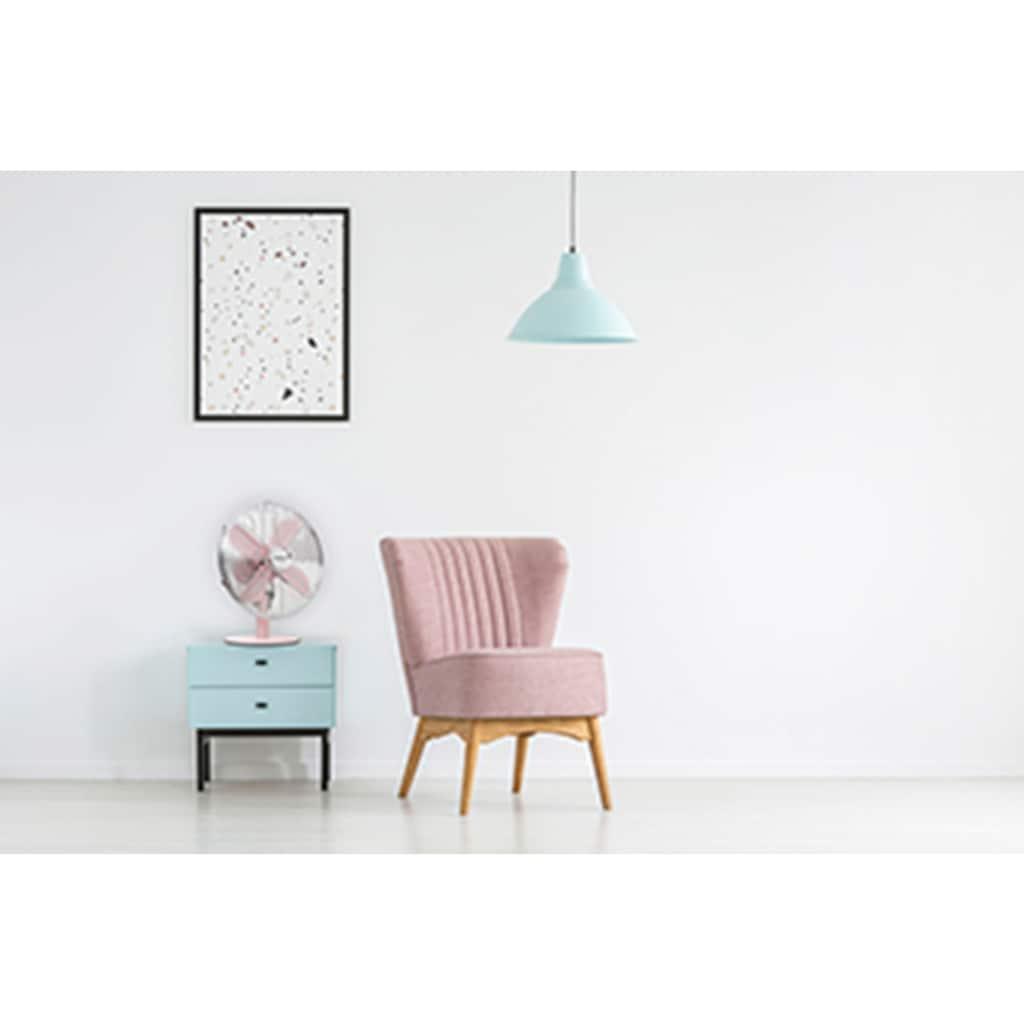 bestron Tischventilator »Summer Breeze«, mit Schwenkfunktion im Retro-Design, Höhe: 43 cm, Ø 35 cm, 35 Watt, Rosa
