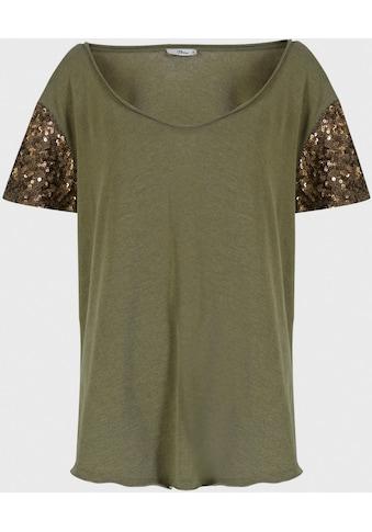 LTB Kurzarmshirt »PAFIZA«, bestickt mit Pailletten an den Ärmeln kaufen