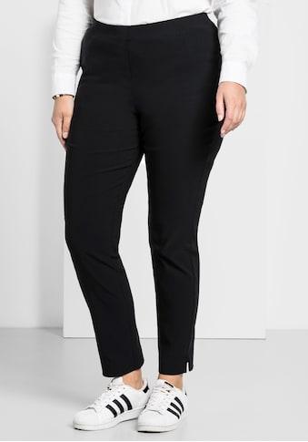 Sheego Stretch-Hose, knitterarm und pflegeleicht kaufen