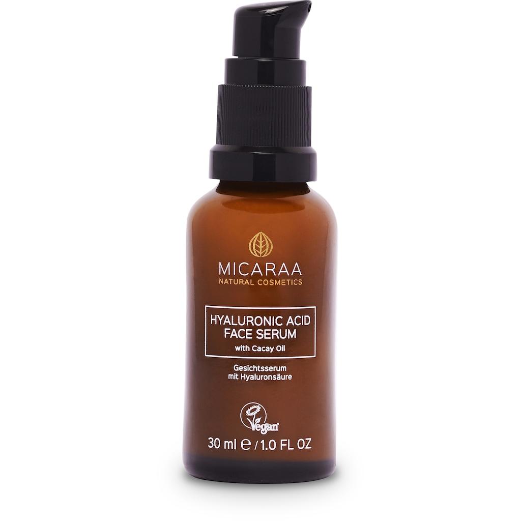 MICARAA NATURAL COSMETICS Gesichtsserum »Vitamin C Hyaluron Anti Aging«, Aloe Vera Gel Anti Aging