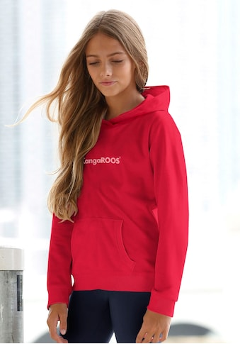 KangaROOS Kapuzensweatshirt, mit Flockdruck kaufen