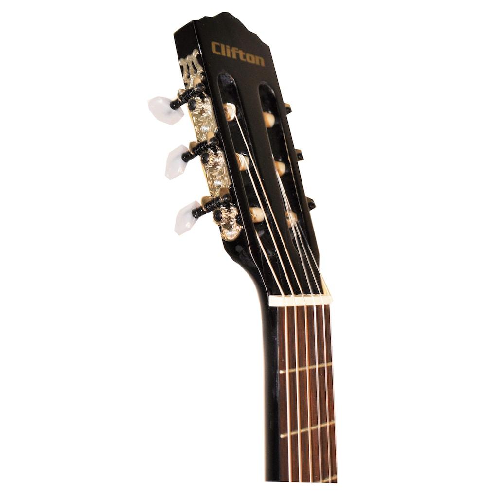 Clifton Konzertgitarre »Clifton - Konzertgitarre 4/4«, 4/4, Komplettset