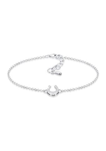 Elli Armband »Hufeisen Glücksbringer Zirkonia Steine 925 Silber« kaufen