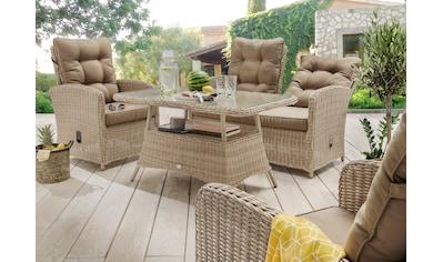 DESTINY Loungeset »Merano II«, 12 - tlg., 2er Sofa, 2 Sessel, Tisch, Polyrattan kaufen