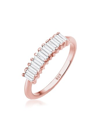 Elli Fingerring »Bandring Geo Rechteck Topas Edelstein 925er Silber« kaufen