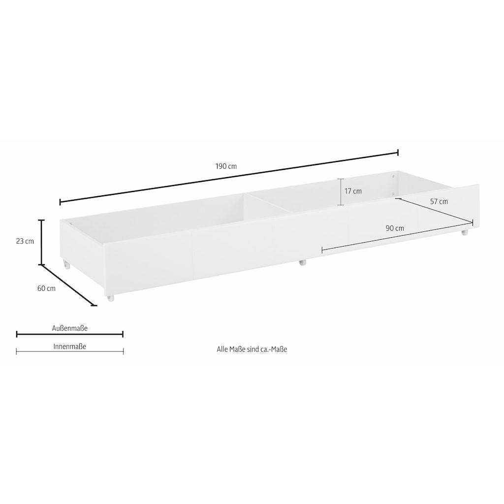 Home affaire Bettschubkasten »Maja«, mit zwei Innenfächer Aufteilung, für viel Stauraum, Breite 190 cm