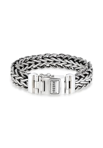 Kuzzoi Armband »Herren Panzerarmband Gliederkette 925er Silber« kaufen