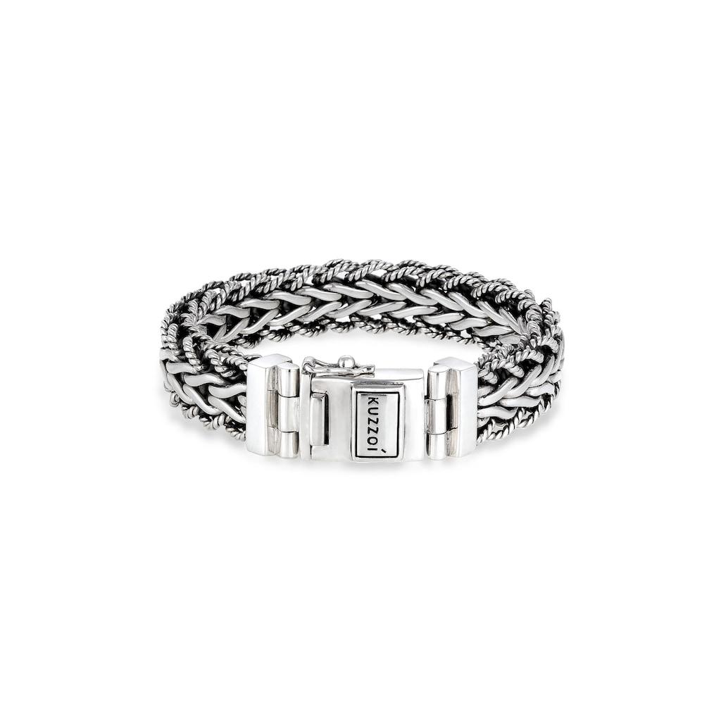 Kuzzoi Armband »Herren Panzerarmband Gliederkette 925er Silber«