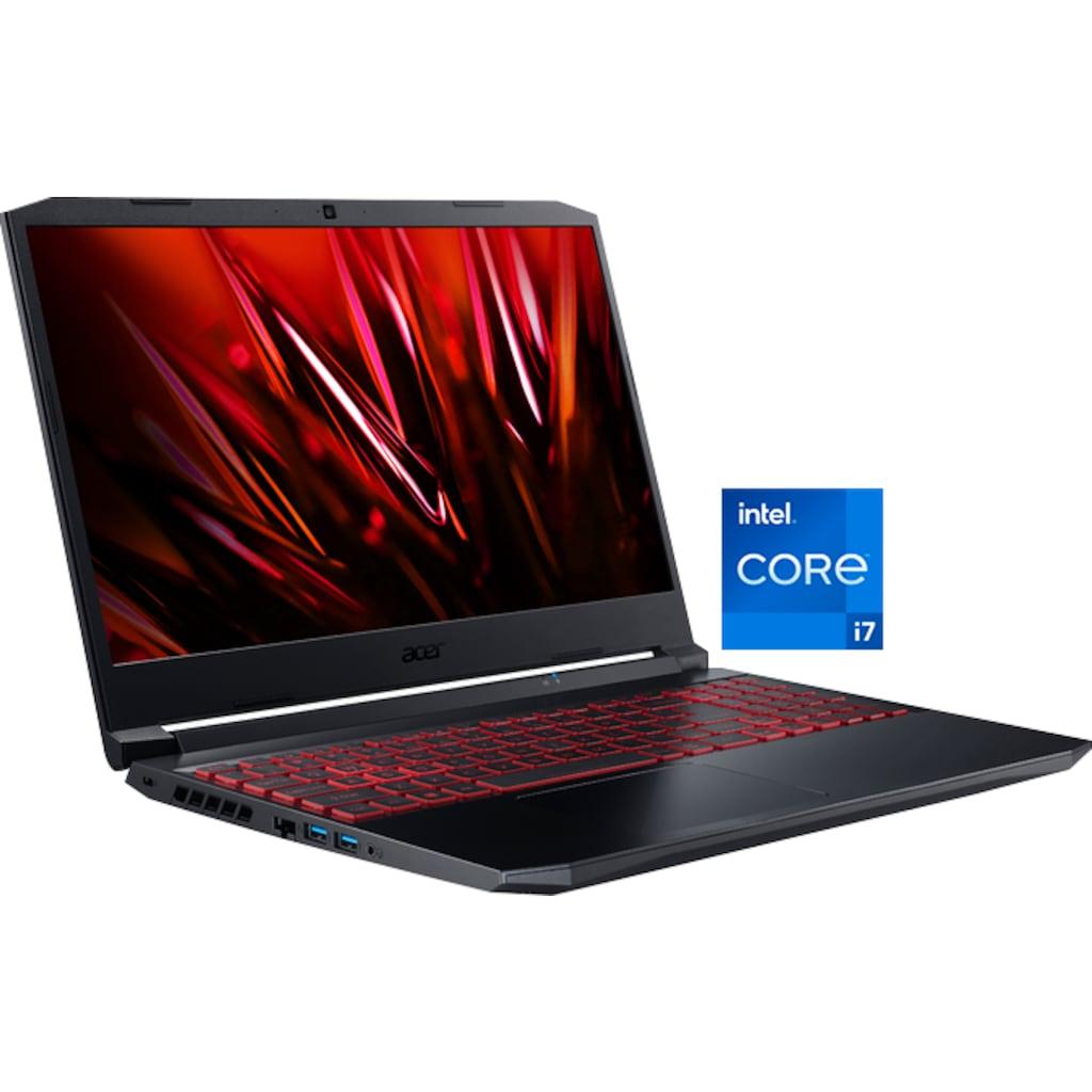 "Acer Notebook »Nitro 5 AN515-57-70QG«, (39,62 cm/15,6 "" Intel Core i7 GeForce RTX™ 3050 Ti\r\n 512 GB SSD), Kostenloses Upgrade auf Windows 11, sobald verfügbar"